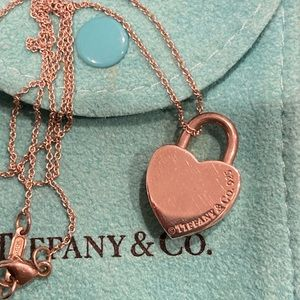 Tiffany & Co. heart lock necklace